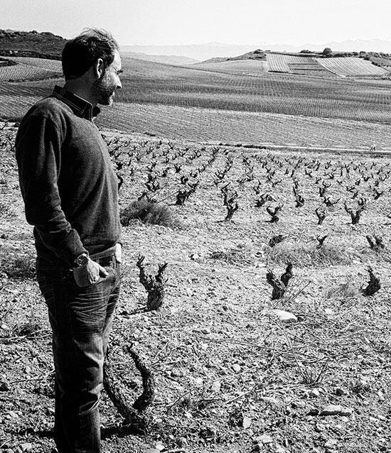 Manuel Garcia en el viñedo