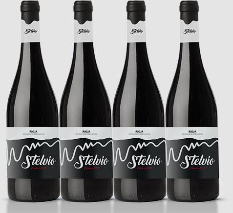 Botella de vino Stelvio Crianza